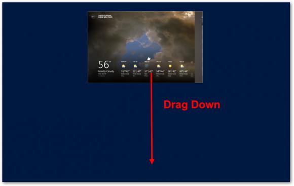 how to close an app windows 8