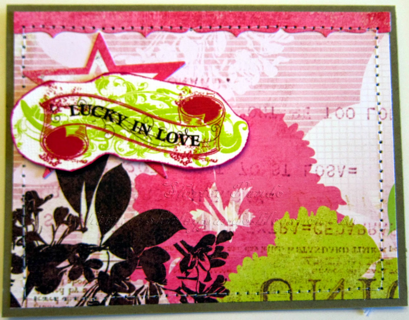 Lucky in Love card