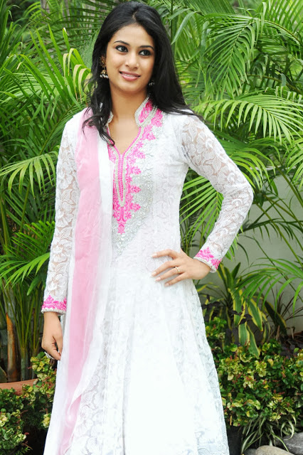 South Actress Zara In White Dress
