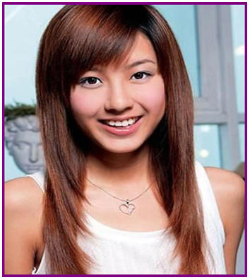 Long Hairstyles With Side Bangs Perfections Hair