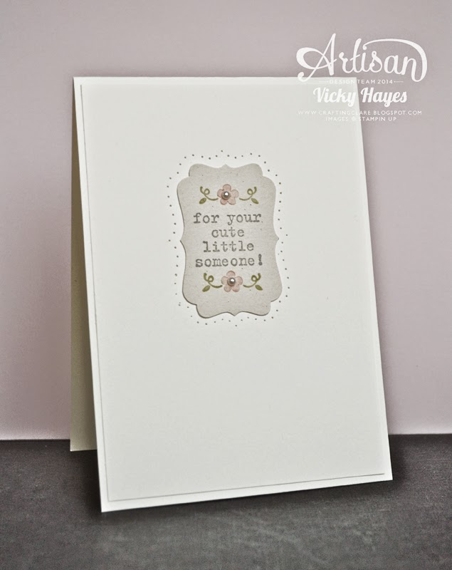 How to use a tiny stamp on your handmade cards