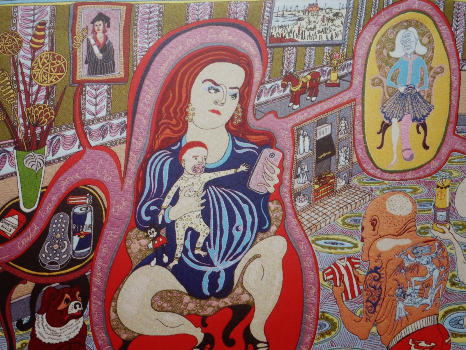 grayson perry tapestry one photo from postcard