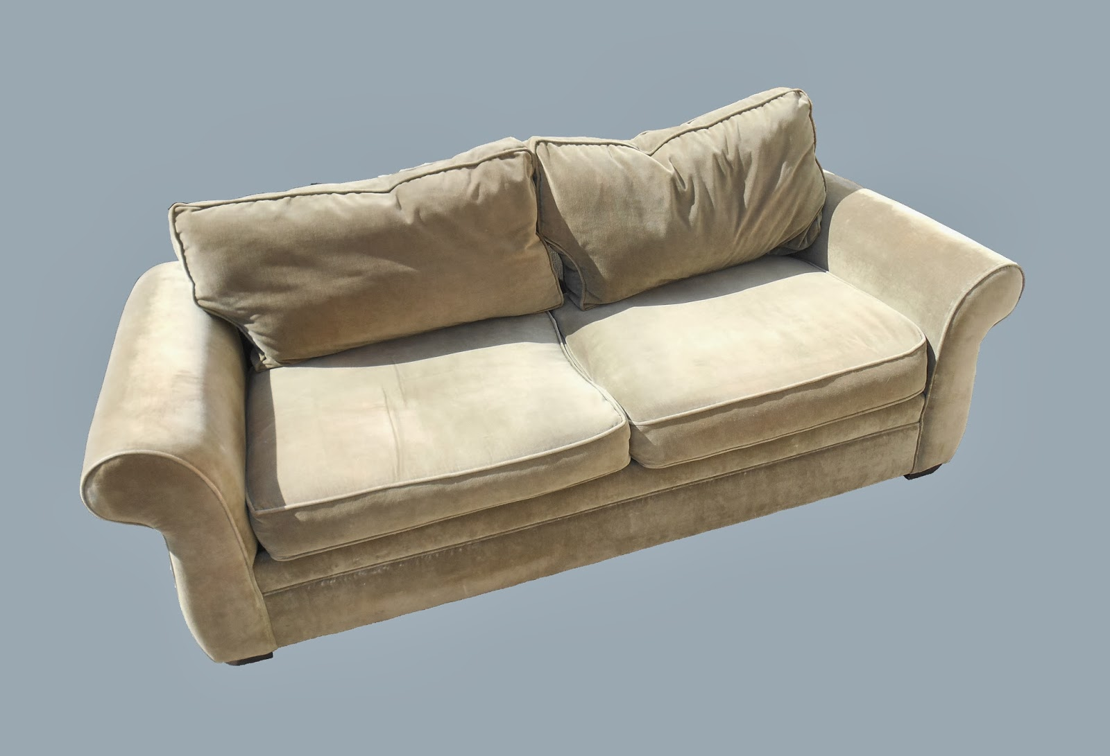 Uhuru furniture collectibles sage velour sofa reduced for Reduced furniture