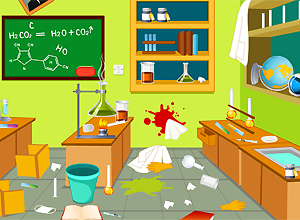 Limpa o laboratório