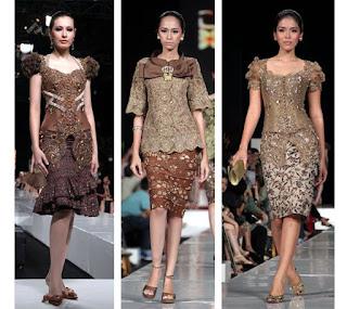 Contoh Kebaya Rok Pendek Batik