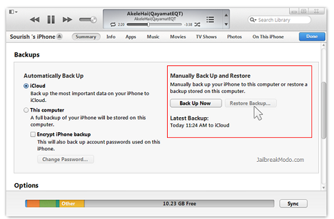 Restore Backup itunes iOS 7 layar hitam iPhone