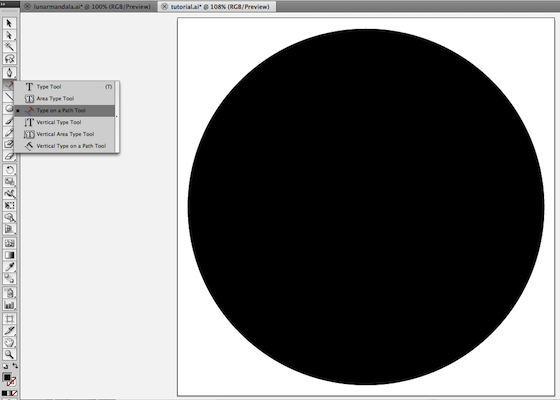 how to put type on a circle in illustrator