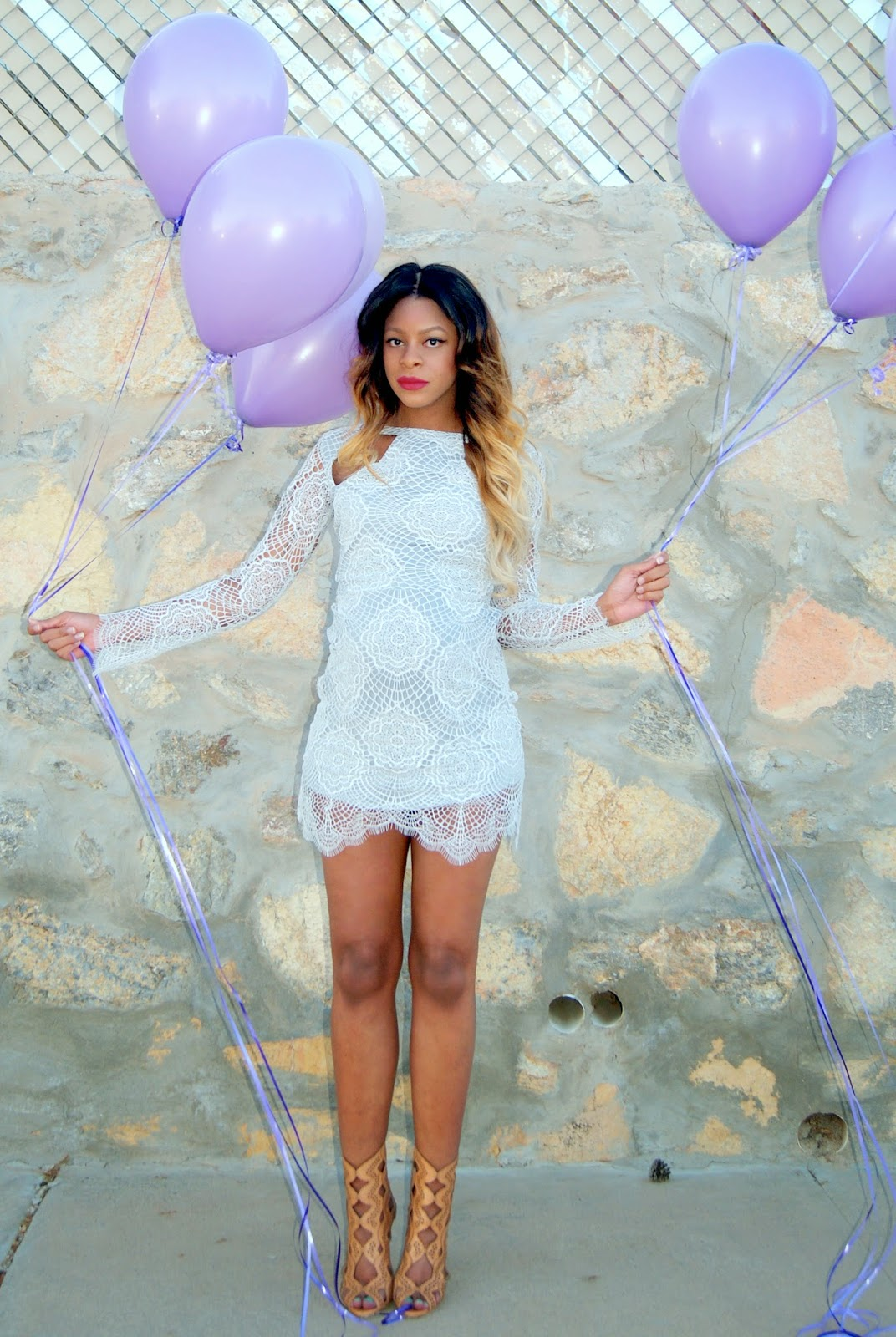 lilac dress, lace dress, ombre hair, allthingsslim, maternity fashion,
