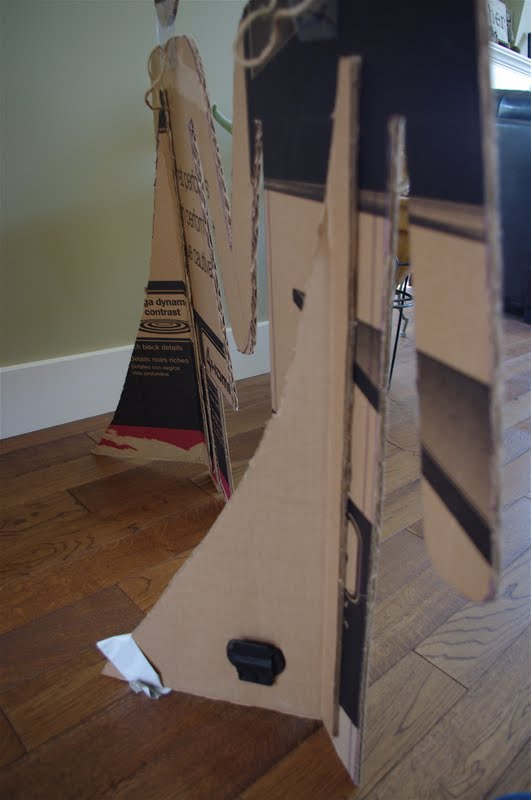 how to make stage props out of cardboard