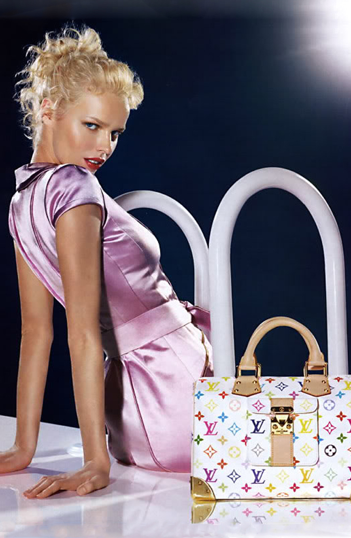 Hold onto your Louis Vuitton Murakami Multicolore monograms - there's a very good reason for it. Photo: Eva Herzigova photographed by Mert Alas & Marcus Piggott for Louis Vuitton Spring/Summer 2003 campaign via fashioned by love / british fashion blog