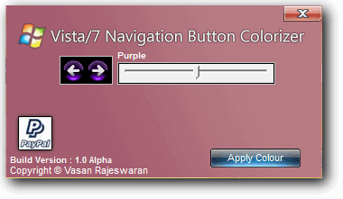 Vista/7 Navigation Button Colorizer