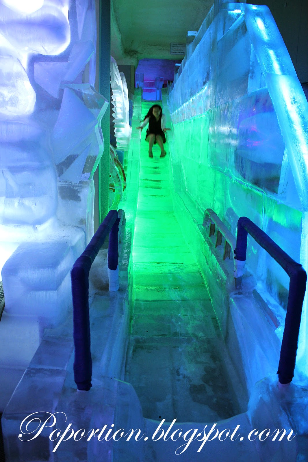 ice museum slide trick eye museum