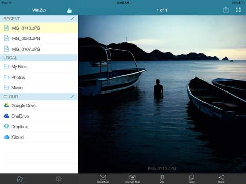 Descomprimir RAR en iPad con WinZip