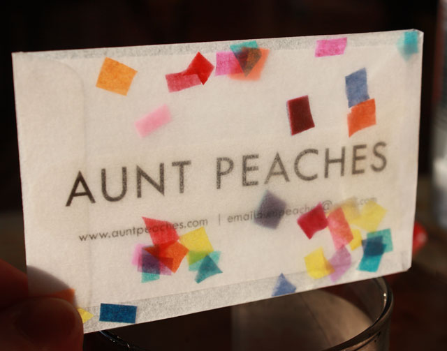 Confetti snow globe business cards aunt peaches i couldnt find transparent yellow envelopes in the right size but the paper source sells a glassine variety they are so cute and precious reheart Gallery