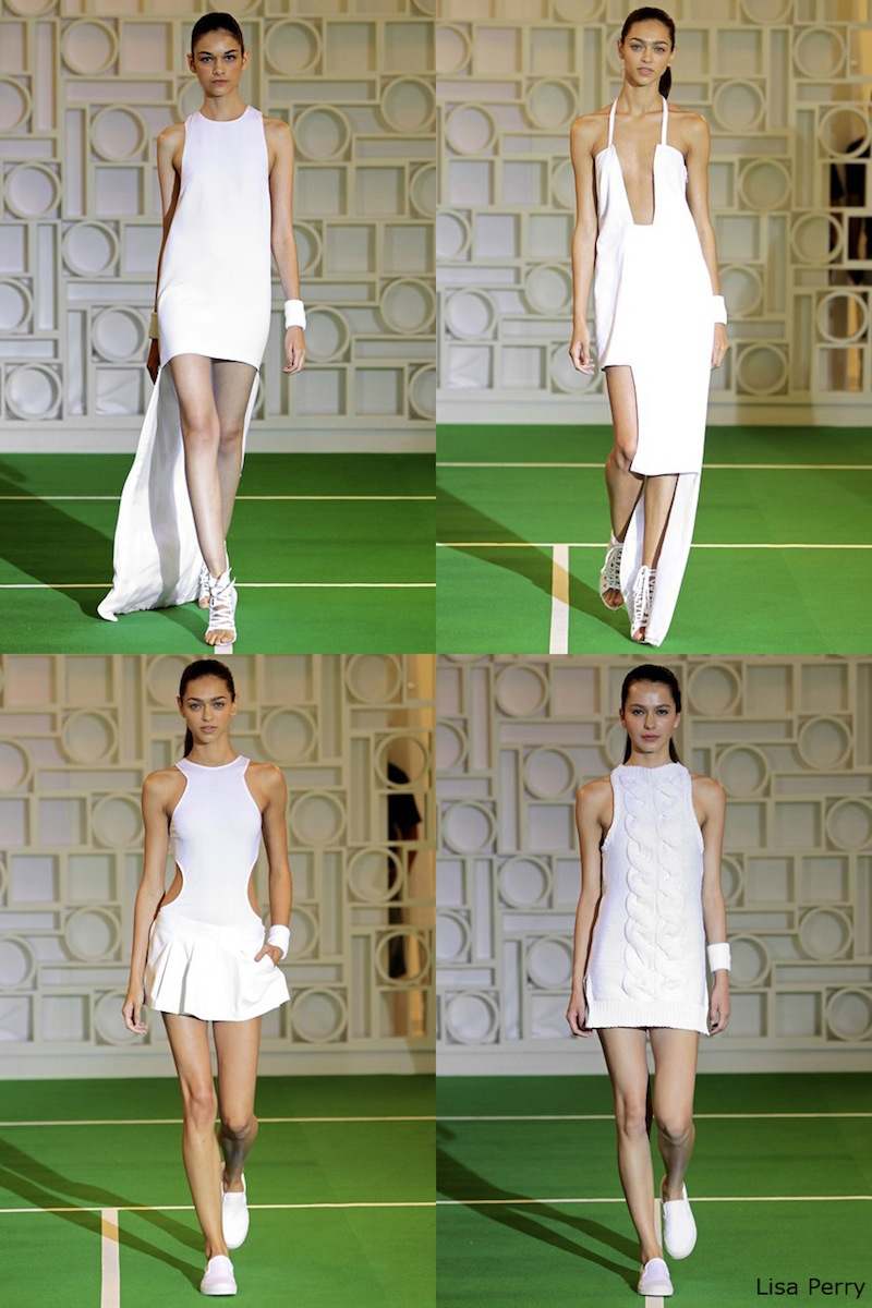 New York Fashion Week, NYFW, SS 2014, Lisa Perry, white, sports luxe