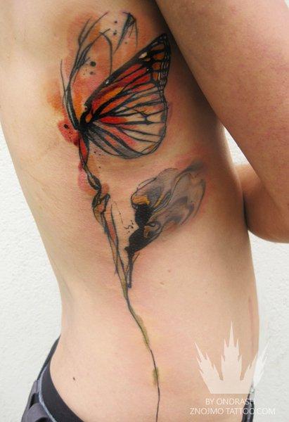 Tattoo aquarelada oh my god for Water paint tattoo