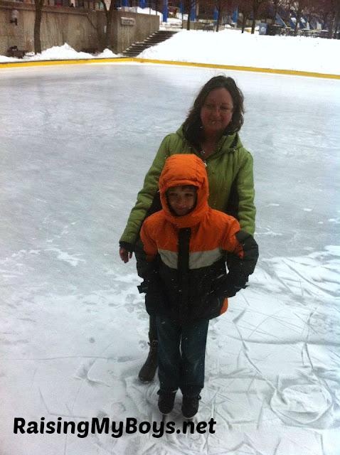 Mom & Son Skating