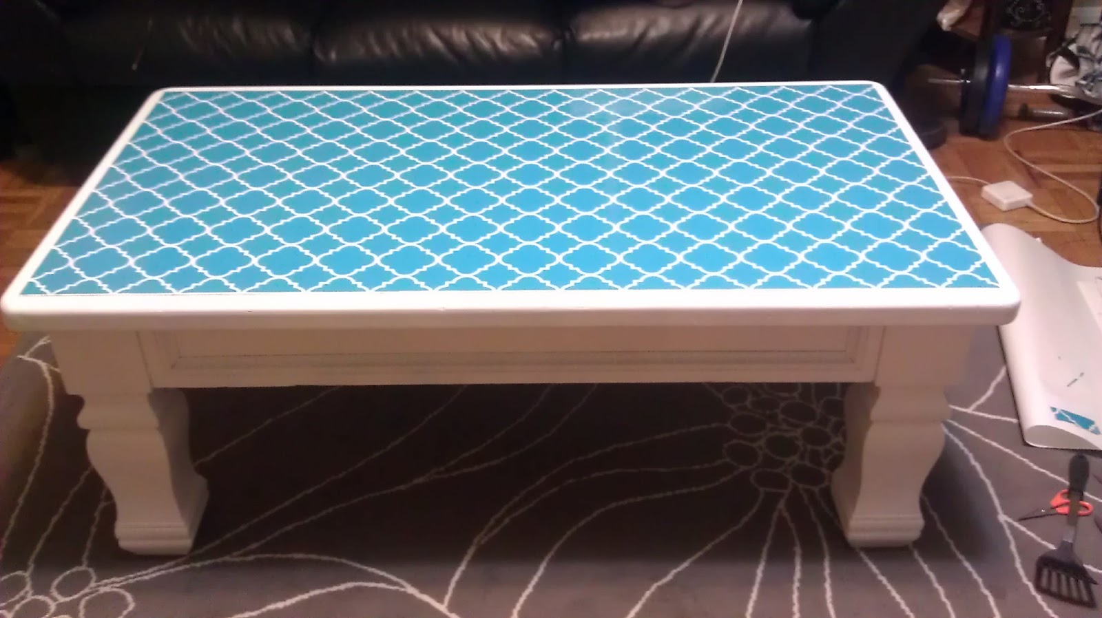oh the things you can do with stickers: project . . . coffee table
