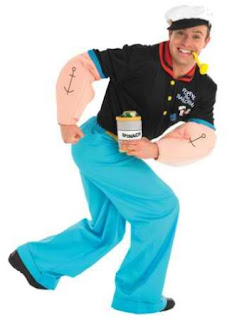 Rubies Popeye Popeye Adult Fancy Dress Costume Extra Large