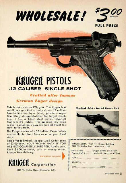Vintage Kruger Pistol Ad