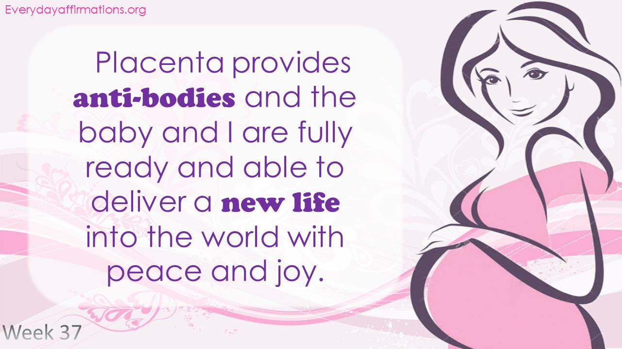 Positive Pregnancy Affirmations Third Trimester - Week 37