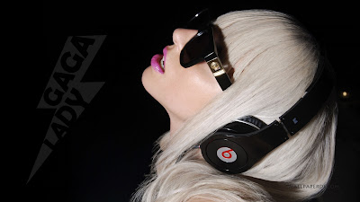 Back lady gaga monster beats headphones wallpapers