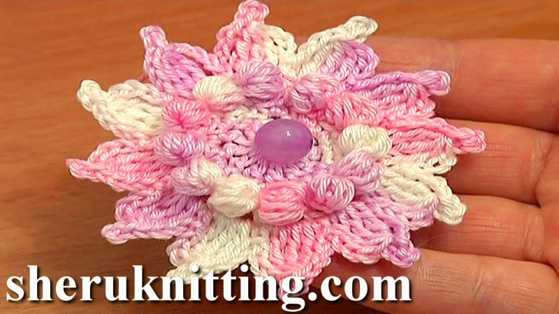 Sheruknitting Crochet Flowers Tutorial 73