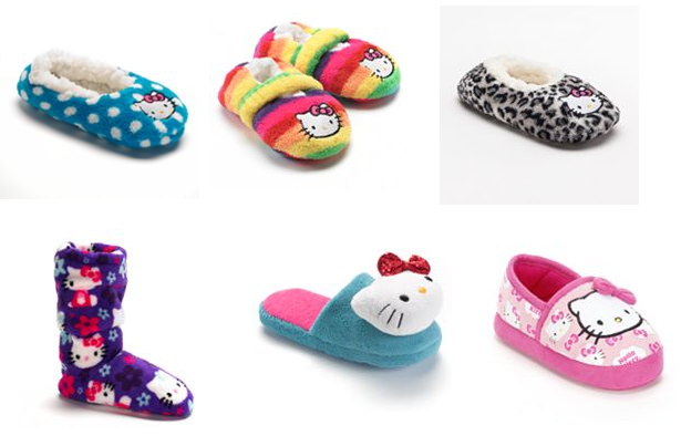 kohl s has a bunch of hello kitty slippers slipper socks various
