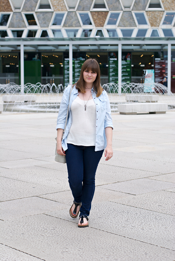 denim all over casual look birkenstock