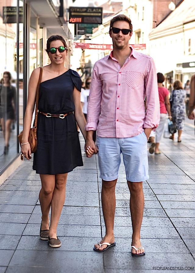 Jelana Miailović i Mislav Slade, Ulična moda u Zagrebu: nekoliko osunčanih stajlinga, street style fashion back to school