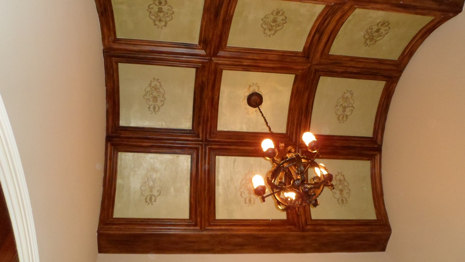 Foyer Plaster Ceiling : Savard studios formal room transformations final product