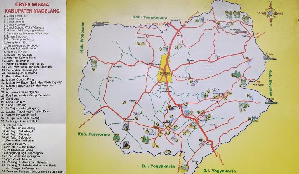 Peta  Wisata Magelang
