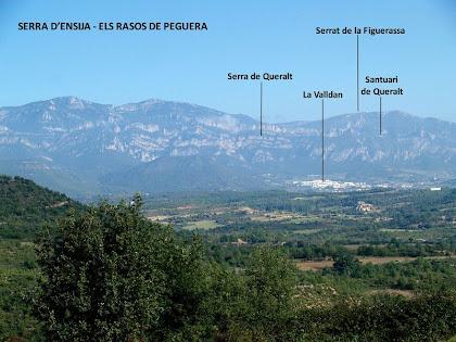 Panoràmica de les serres de l'Alt Berguedà des de la zona de Serrajoana