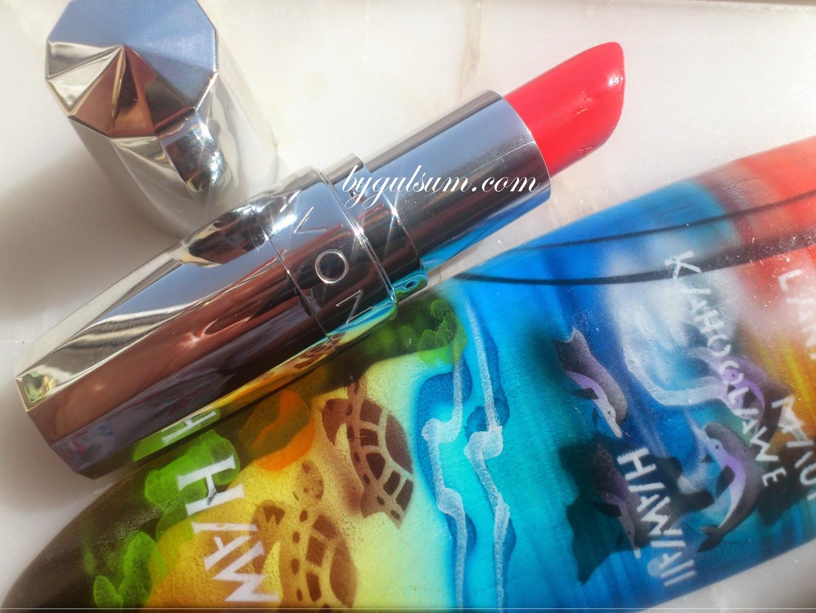 Avon Caressing Coral Lipstick