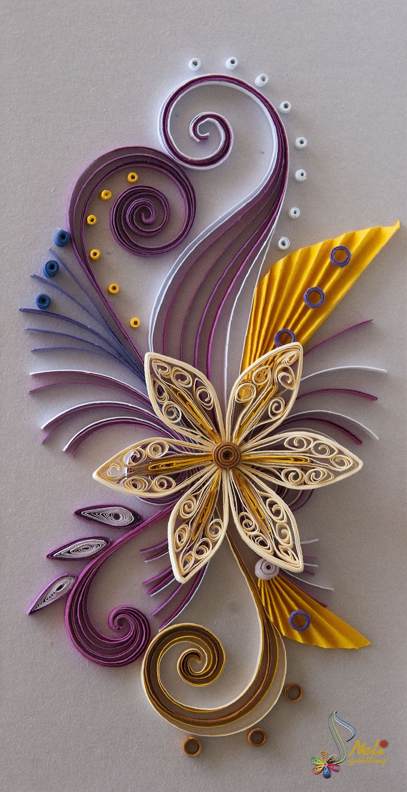 Neli quilling art quilling cards for Quilling paper art