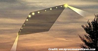 Diamond-Shaped UFOs Over New York State