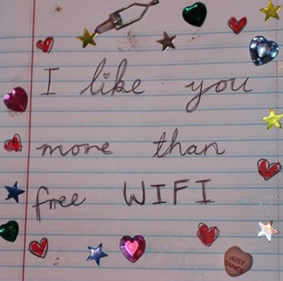 funny picture - free wifi - true love