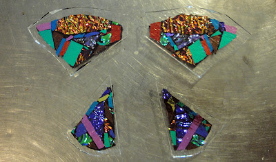 Fused Glass Dichroic Butterfly Wing Construction Layering Assembly Flutterbyfoto Flutterbybutterfly