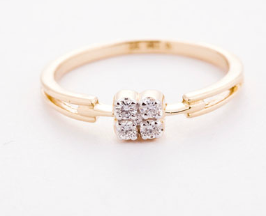 Simple Adorable Diamond Rings for Ladies