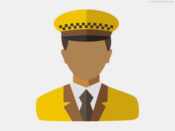 Taxi Driver Icon PSD