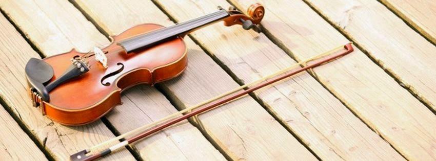 Couverture pour journal facebook violon