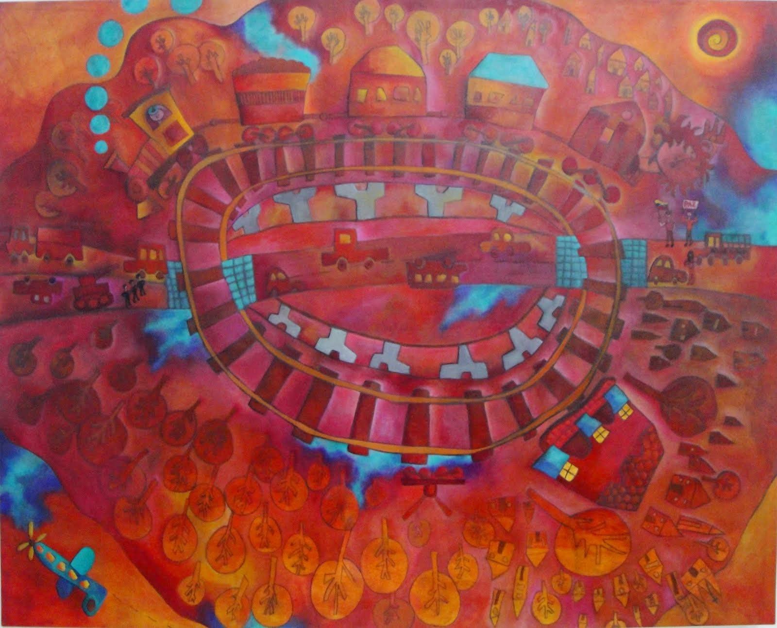 Obra Ganadora I Bienal Festivales de Carabobo homenaje a Nelson Mandela!