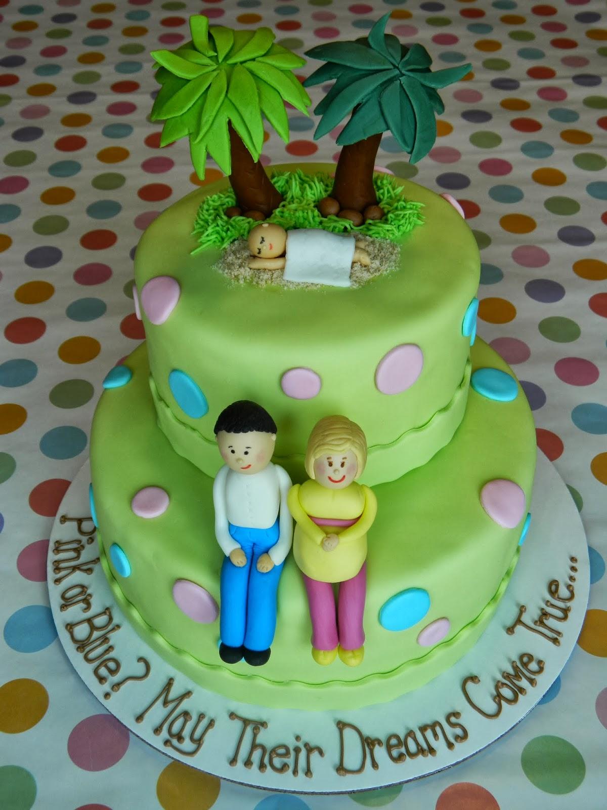 sweet custom treats gender reveal baby shower cake