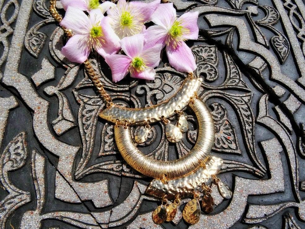 Aztec inspired statement necklace
