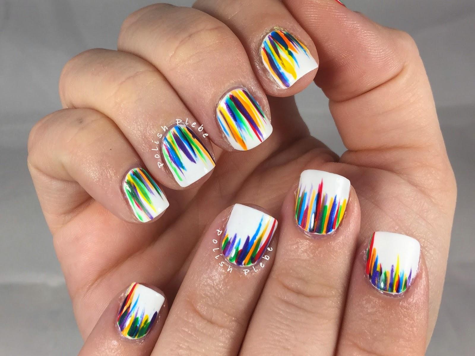 Nails Art: ROYGBIV Waterfall Nail Art