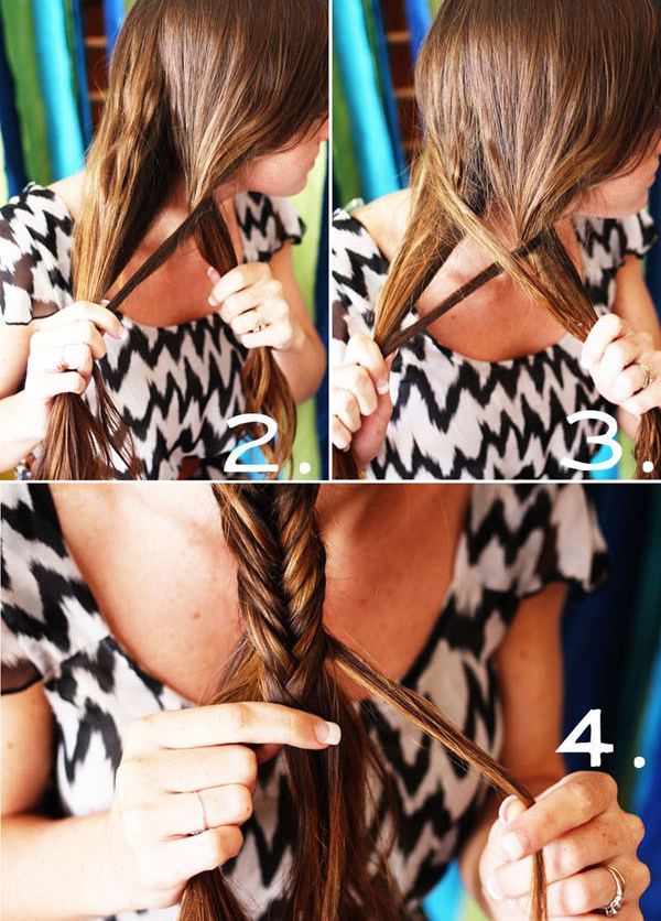 DIY: Trança rabo de peixe - escama de peixe - FISHTAIL BRAID