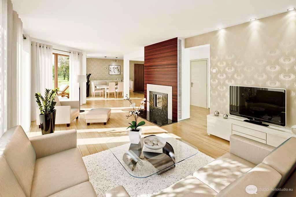 Model Living Room Design Luxury Minimalist White Color