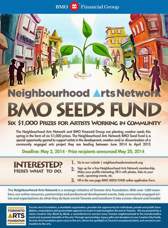Toronto Artists Working in Community: Neighbourhood Arts Network and BMO Financial Group 2nd Annual Seeds Fund