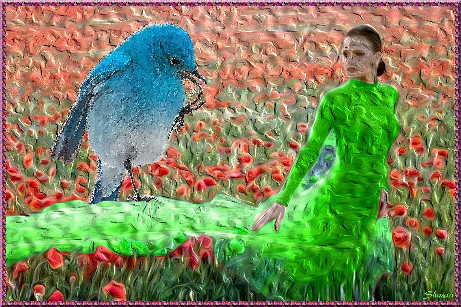 A Dona poesia e o passarinho