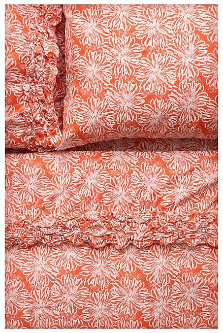 Latest Living Room Designs: Sheet Sets In Coral